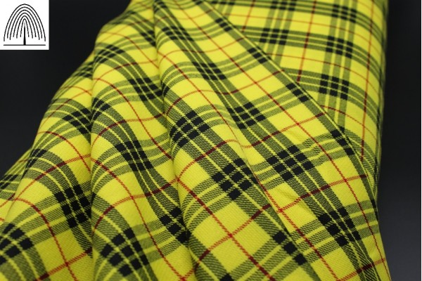 Sunflower Yellow Fashion Tartan Fabric