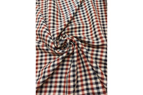 Brown & Beige Tartan Fabric