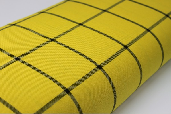 Black Cross Tartan Fabric