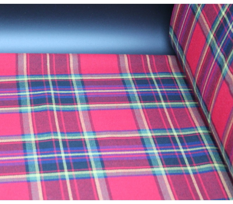 Red and Gold Tartan Fabric