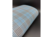Light Blue and Grey Tartan Fabric