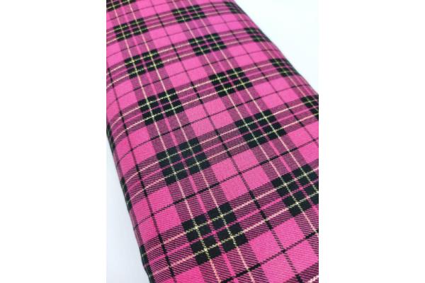 Total Pink with Lurex Tartan Fabric