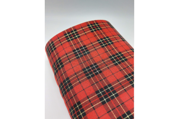 Total Red with Lurex Tartan Fabric