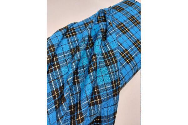 Total Turquoise with Lurex Tartan Fabric