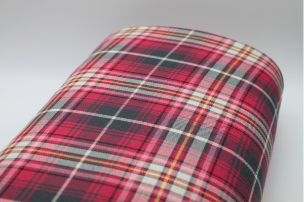 Cherry Fire Tartan Fabric