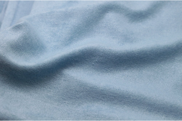 Blue Bamboo Towelling Fabric