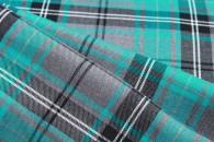 Turquoise Tartan Fabric