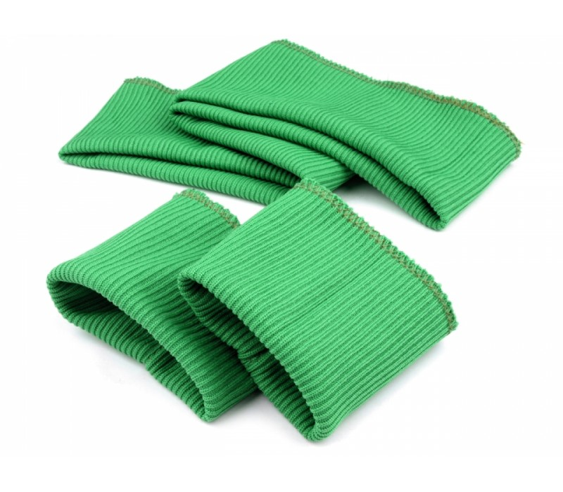 Set of Elastic Rib Knit Fabric 7 cm - 2x Cuffs and Waistband