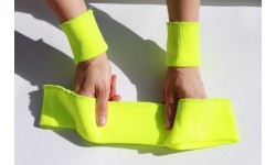 Set of Elastic Rib Knit Fabric 7 cm - 2x Cuffs and Waistband