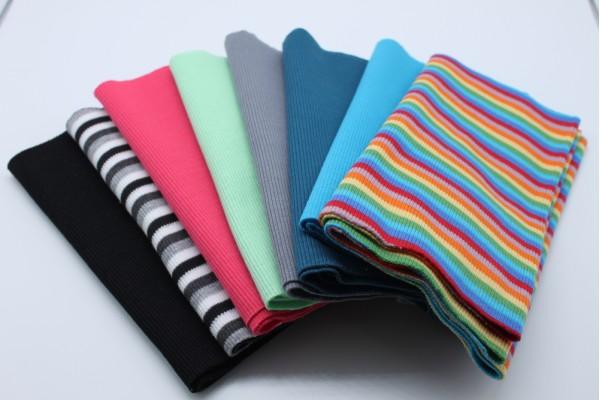 Cotton Elastic Rib Knit Fabric Tube 20 x 96 cm