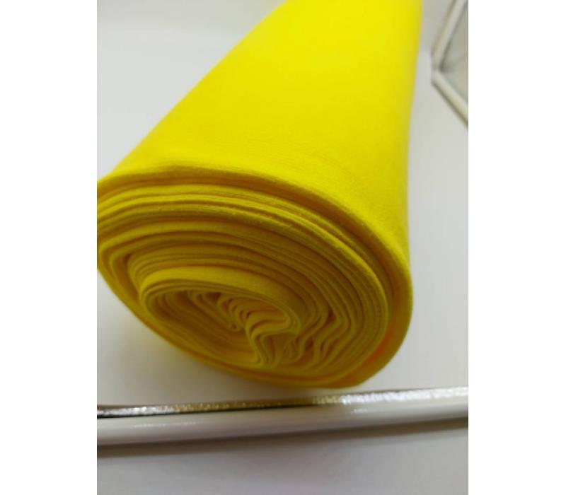 Bright Yellow Rib Knit Tube - 2 x 47 cm