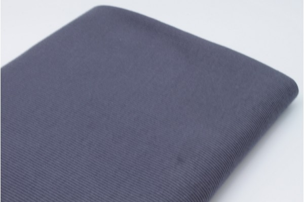 Dark Grey Rib Knit Tube - 2 x 48 cm