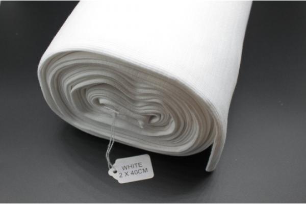 White Rib Knit Tube 2 x 40 cm
