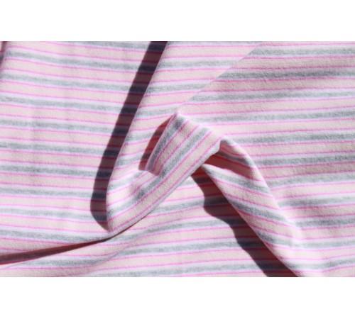 Grey, Salmon & Coral Stripes