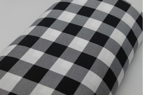 Jersey - Black and White Check (3 cm)