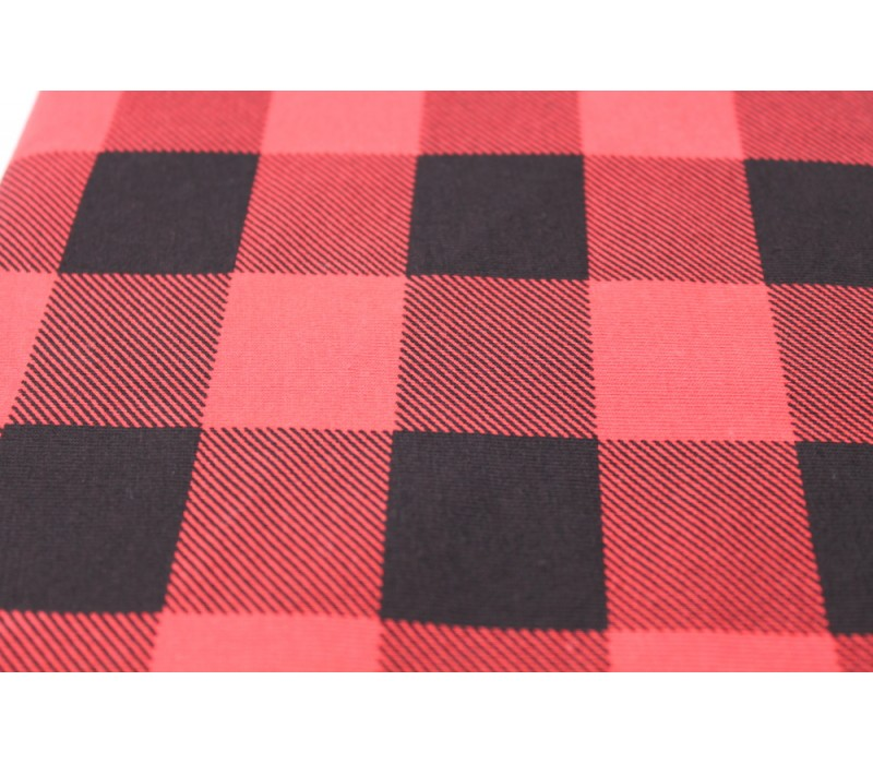 Jersey - Black and Red Check -- Buffalo Plaid