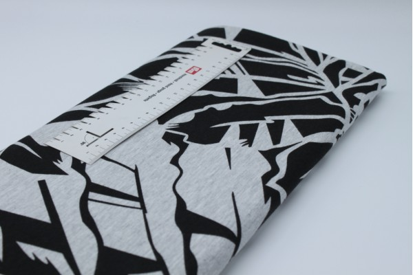Single Jersey - Black with Grey Lily